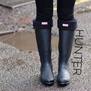 Hunter Original Tall Black Fleece Welly Socks!